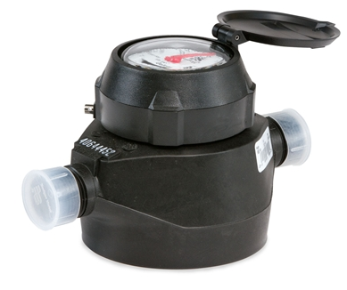 "Badger 1/2"" Plastic (RCDL) positive displacement meters are one of the most cost effective methods in metering industrial fluids. (Low Lead)
