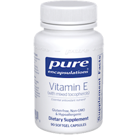 Vitamin E (with mixed tocopherols) / Pure Encapsulations / 90 softgel capsules