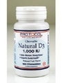 Natural D3 1000 IU Chewable / Protocol For Life Balance / 180 Tabs