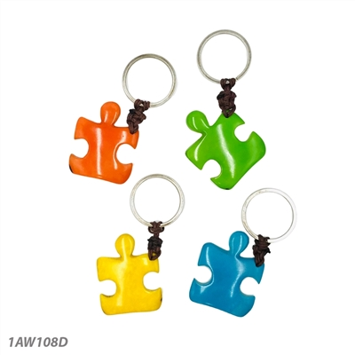 Autism Awareness Tagua Keychain Wholesale