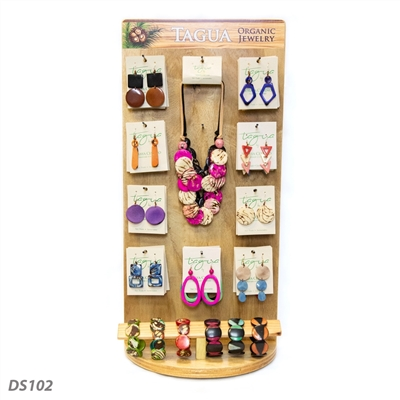 Organic Tagua Jewelry Display