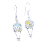 10mm Itty Bitty GAYM Hot Air Balloon Earrings - Solid Sterling Silver