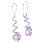 10mm Itty Bitty GAYM Swirl Earrings - Solid Sterling Silver