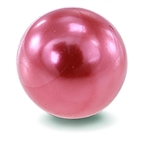 Pink Satin Faux Pearl