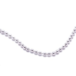 Silver Clad Ball Chain Necklace