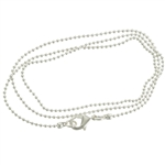 Silver Clad Fine Ball Chain Necklace