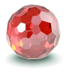 Faceted Garnet CZ