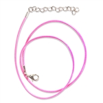 Hot Pink Waxed Cotton Cord Necklace