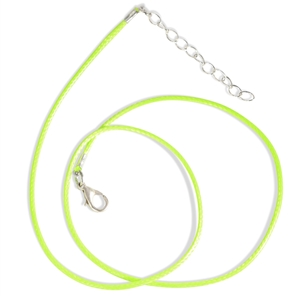 Lime Green Waxed Cotton Cord Necklace