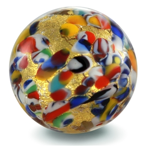 Gold Carnival Murano Glass charm