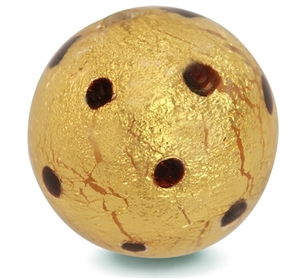 Gold Olivia Dot Murano Glass Charm