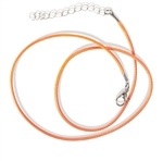 Orange Waxed Cotton Cord Necklace