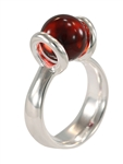 10mm itty bitty marblePOP! serenity ring - silver plated