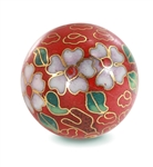 Cloisonne Bead- Red - Whopper