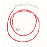 Red Waxed Cotton Cord Necklace