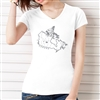 I Luv Canada V Neck Tee - Ladies