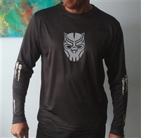 Men's Black Panther Reflective L/S T-Shirt