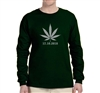 Unisex Cannabis Print Long Sleeve Tee