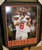 Baker Mayfield 'Dangerous' Unsigned 16 x 20 Framed