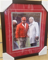 Earle Bruce & Woody Wayes Unsigned 11 x 14 Framed