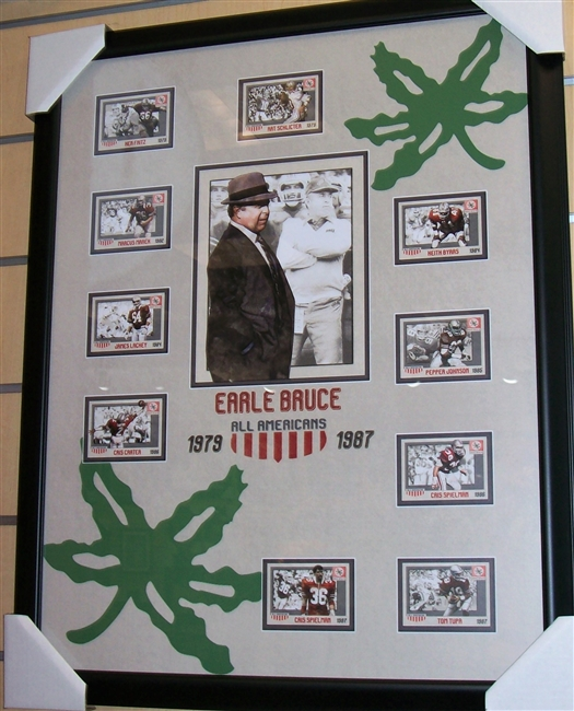 Earle Bruce All-Americans Collage Framed