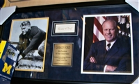 Gerald Ford Signed Index Card Collage Framed