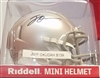 Jeff Okudah Signed Mini Helmet