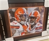 Mack Wilson & Greedy Williams Signed 16 x 20 Framed