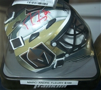 Marc-Andre Fleury Signed Mini Helmet