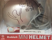 Marcus Hall Signed Mini Helmet