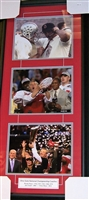 National Champions Coaches Collage Framed
