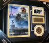 U.S. Navy Collage w/Coin Framed