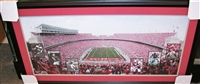 NEW HOUSE SPECIAL - Ohio Stadium Panaramic w/Heisman Cards and 3 Signed & Framed 16 x 20 Photos (1 Archie Griffin, 1 Eddie George, and 1 Troy Smith)