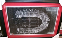 Ohio Stadium Blueprint 16 x 20 Framed