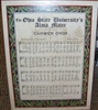 Ohio State Carmen Ohio Music Sheet w/Lyrics Unframed