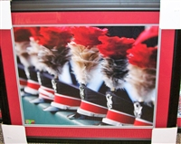 Ohio State Marching Band Hats Framed 16 x 20