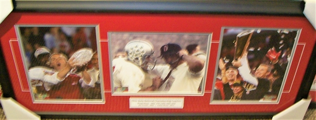Ohio State National Championship Head Coaches Collage Framed