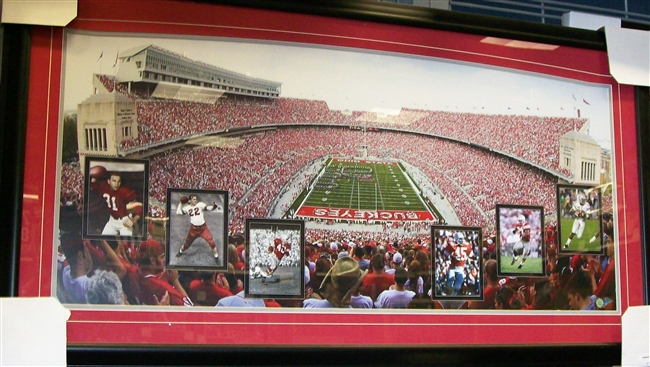 Ohio Stadium with Heisman Winners Oversized Framed