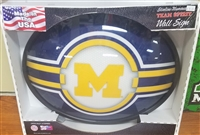 Slimline Illuminated Michigan Wolverines Logo Wall Sign