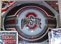 Slimline Illuminated Red Oval Ohio State Logo Wall Sign