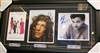 Robin Quivers, Howard Stern, Artie Lange Signed 8x10 Collage Framed