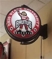 Rotating Illuminated Round Brutus Bubble Sign