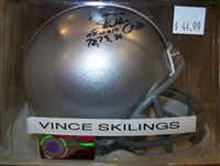 Vince Skillings Signed Mini Helmet