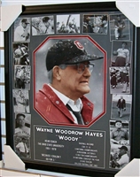 Woody Hayes Collage 12 x 16 Framed