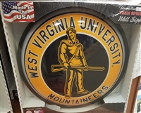 Slimline Illuminated West Virginia University Mountaineers Wall Sign