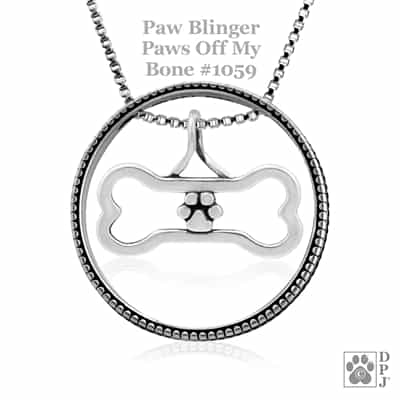 Paws Off My Bone Necklace, Animal Lover Gift