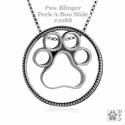 Dog Jewelry, Pet Jewelry, Paw Print Pendant, Gifts For Pet Lovers,