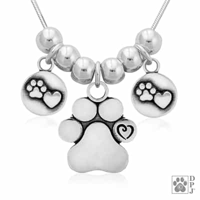 Designer Paw Print Necklace, Exclusive Paw Print Gifts