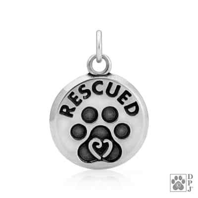 Rescue Pendant, Rescue Jewelry, Rescue Charm, Rescued Pendant, Rescued Jewelry, Rescued Charm, Dog Rescue Pendant, Dog Rescued Charm, Dog Rescued Jewelry, Rescue Dog Charm, Rescue Dog Pendant, Paw Charm, Paw Jewelry, Dog Gifts, Dog Mom Gifts
