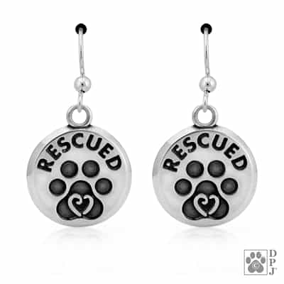 Rescue Earrings, Rescue Jewelry, Dog Rescue Jewelry, Cat Rescue Jewelry, Charity Jewelry, Pet Products Made In The USA, Pet Jewelry Made In The USA, Animal Rescue Earrings, Animal Rescue Jewelry, Dog Gifts, Dog Mom Gifts, Best Gifts For Dog Lovers